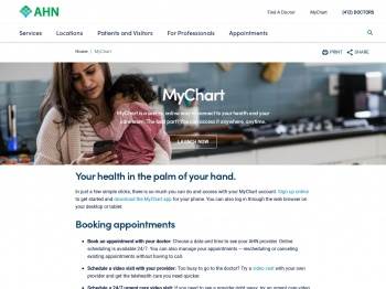 MyChart | Allegheny Health Network